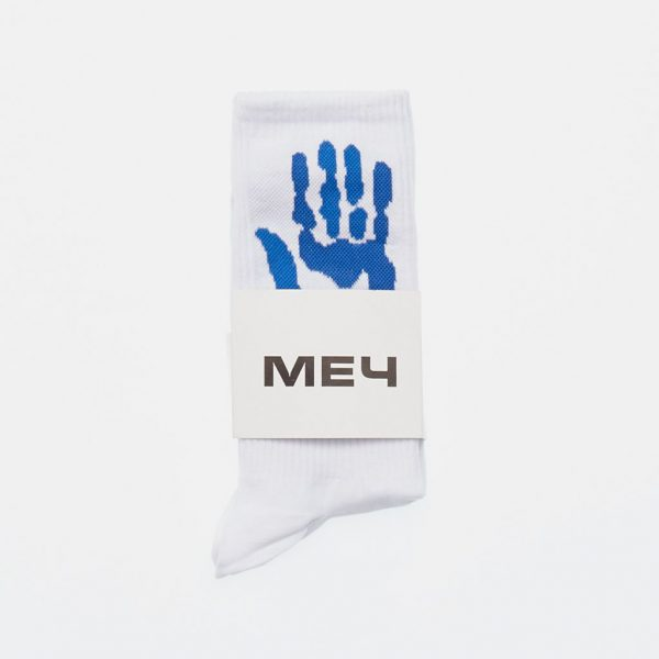 Mech Russian Streetwear Blue White Socks
