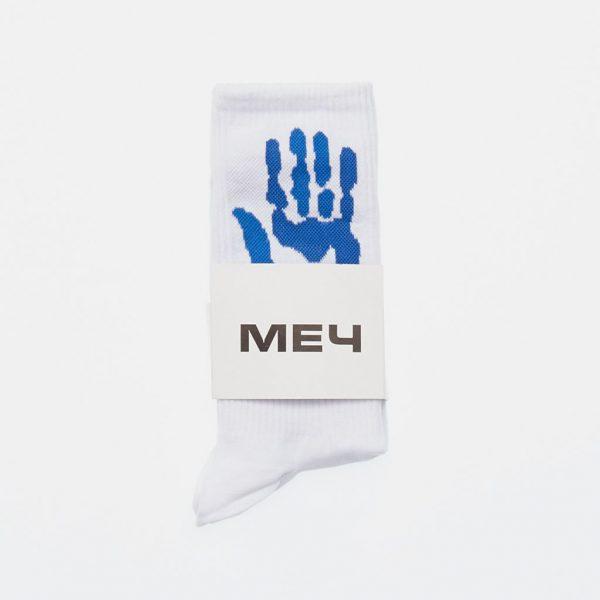 Mech Russian Streetwear Blue White Socks