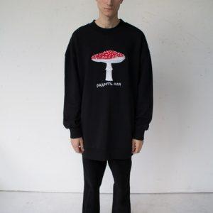 Anton Lisin Mushroom Sweatshirt Black