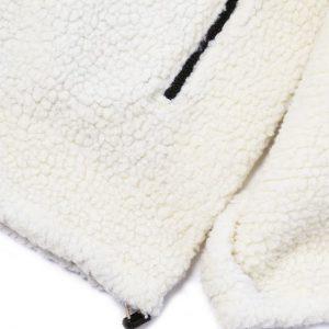 Wolee Sherpa Fleece – Cream/Black
