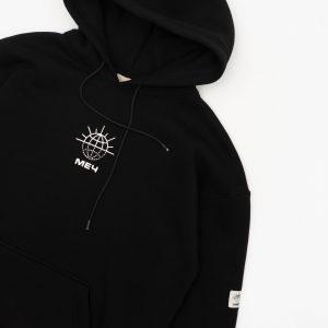 Mech Warm Logo Hoodie Black